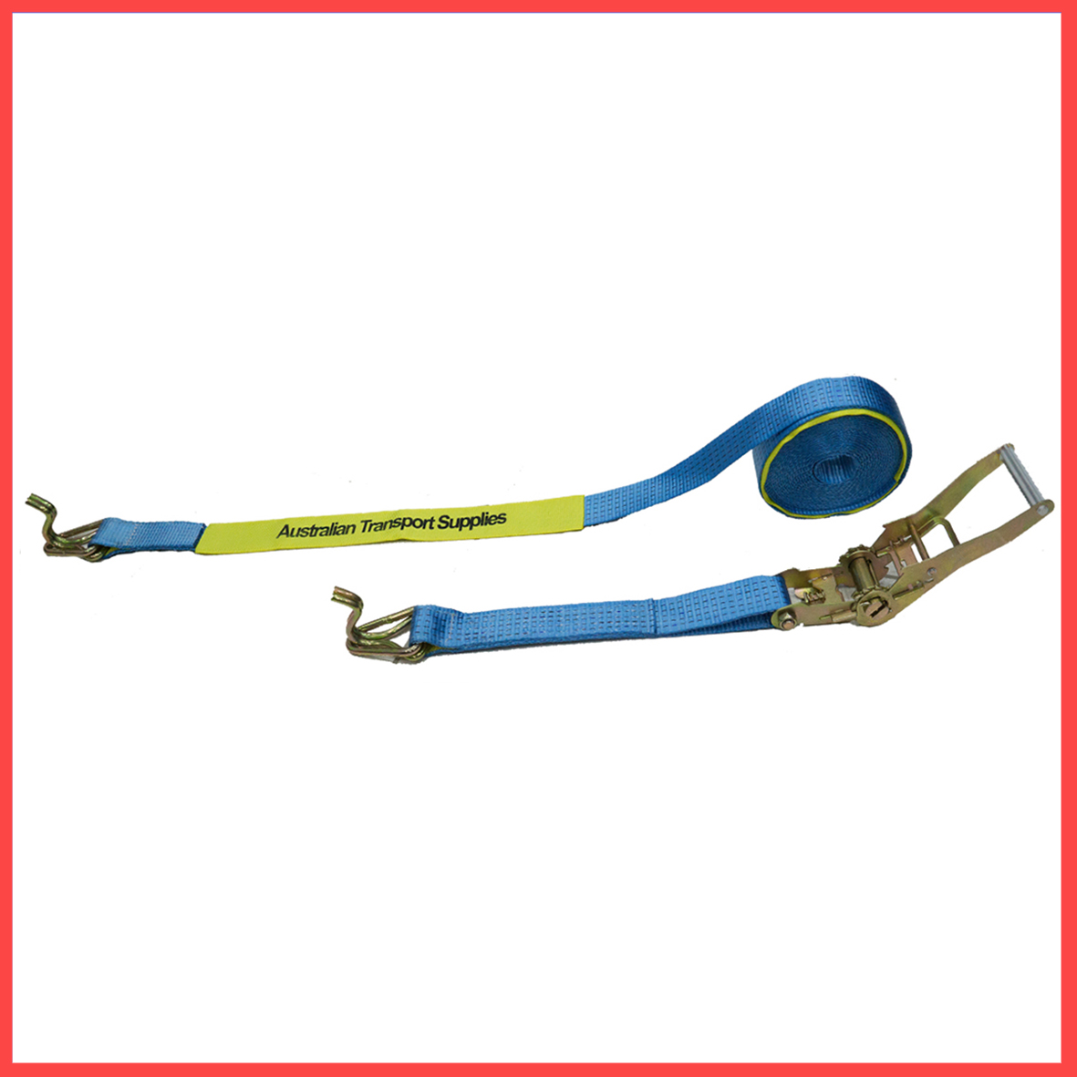 50MM X 9M X 2500KG Heavy Duty Ratchet and Strap